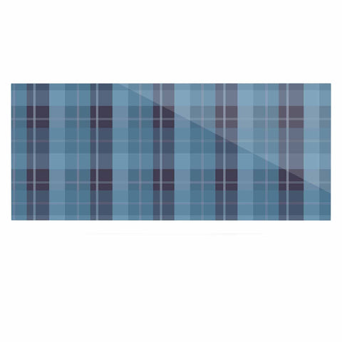 "afe images ""Blue Plaid Pattern II"" Blue Multicolor Illustration Luxe Rectangle Panel"