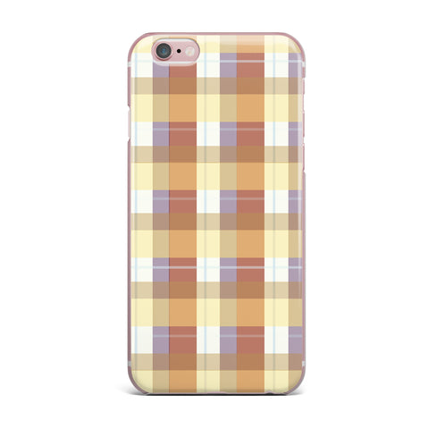 "afe images ""Brown Plaid Pattern"" Brown Tan Illustration iPhone Case"