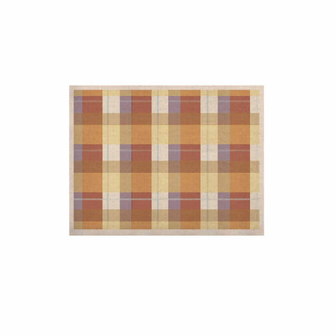 "afe images ""Brown Plaid Pattern"" Brown Tan Illustration KESS Naturals Canvas (Frame not Included)"
