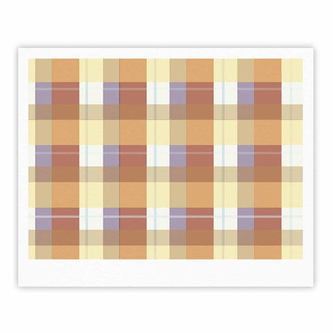 "afe images ""Brown Plaid Pattern"" Brown Tan Illustration Fine Art Gallery Print"