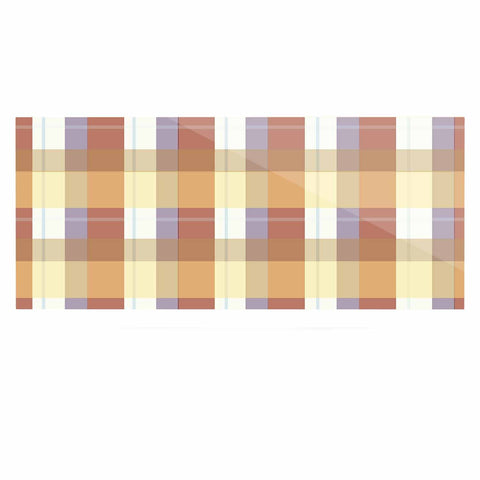"afe images ""Brown Plaid Pattern"" Brown Tan Illustration Luxe Rectangle Panel"