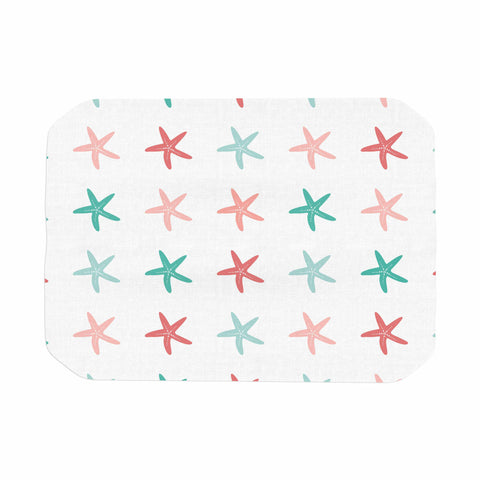 "afe images ""Starfish Pattern II"" Teal Pink Illustration Place Mat"