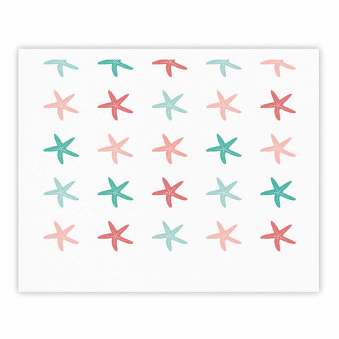 "afe images ""Starfish Pattern II"" Teal Pink Illustration Fine Art Gallery Print"