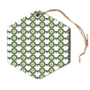 "afe images ""Retro Circles"" Green Brown Abstract Pattern Illustration Digital Hexagon Holiday Ornament"