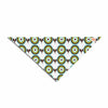 "afe images ""Retro Circles"" Green Brown Illustration Pet Bandana"