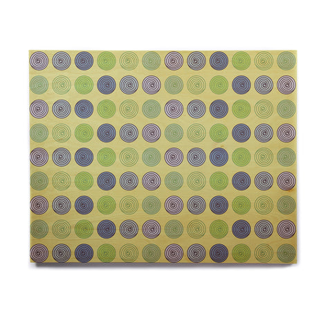 "afe images ""Blue And Green Spheres"" Olive Green Illustration Birchwood Wall Art - KESS InHouse  - 1"