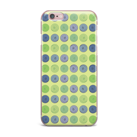 "afe images ""Blue And Green Spheres"" Olive Green Illustration iPhone Case"