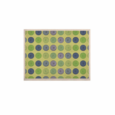 "afe images ""Blue And Green Spheres"" Olive Green Illustration KESS Naturals Canvas (Frame not Included)"