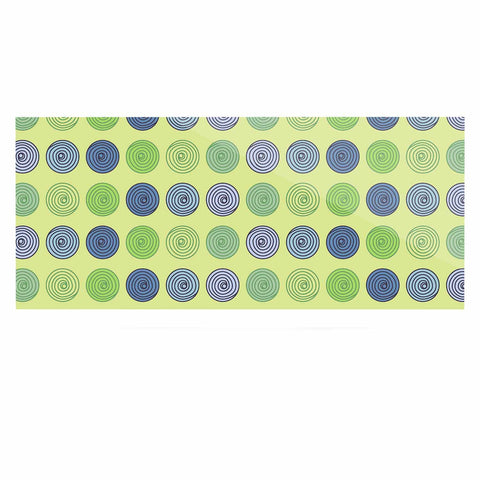 "afe images ""Blue And Green Spheres"" Olive Green Illustration Luxe Rectangle Panel"