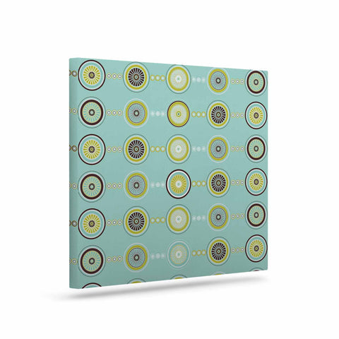 "afe images ""Circle Pattern"" Teal Blue Illustration Canvas Art - KESS InHouse  - 1"