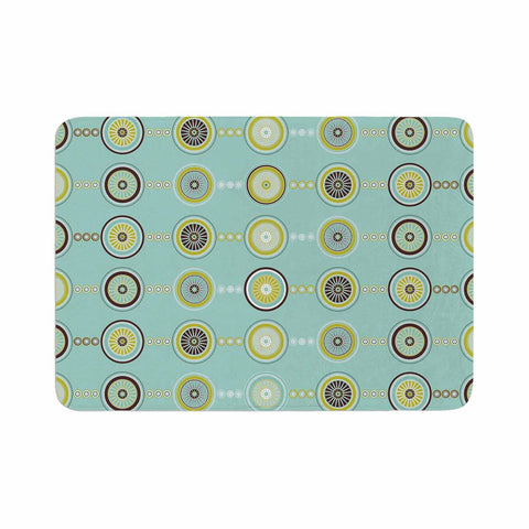 "afe images ""Circle Pattern"" Teal Blue Illustration Memory Foam Bath Mat"