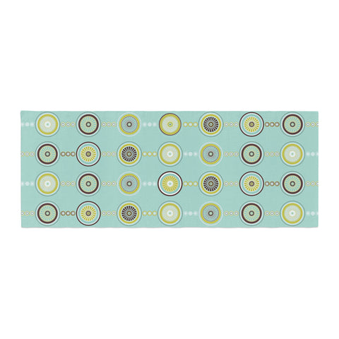 "afe images ""Circle Pattern"" Teal Blue Illustration Bed Runner"