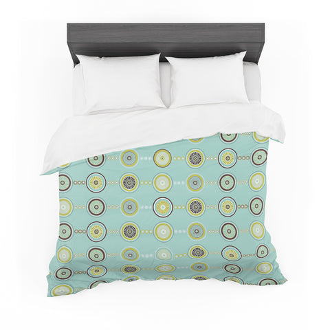 "afe images ""Circle Pattern"" Teal Blue Illustration Featherweight Duvet Cover"