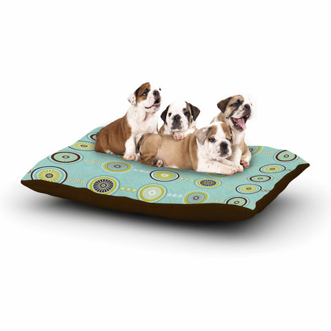 "afe images ""Circle Pattern"" Teal Blue Illustration Dog Bed"