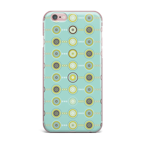 "afe images ""Circle Pattern"" Teal Blue Illustration iPhone Case"