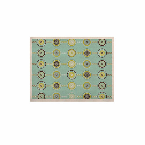 "afe images ""Circle Pattern"" Teal Blue Illustration KESS Naturals Canvas (Frame not Included)"