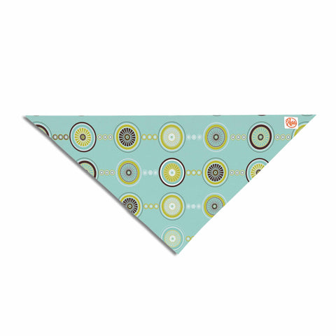 "afe images ""Circle Pattern"" Teal Blue Illustration Pet Bandana"