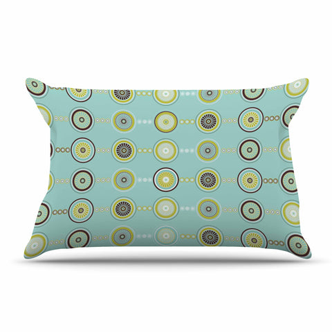 "afe images ""Circle Pattern"" Teal Blue Illustration Pillow Sham"