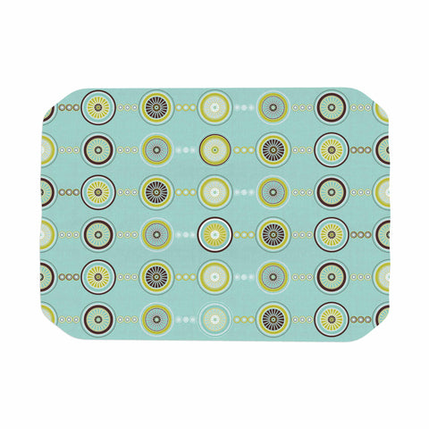 "afe images ""Circle Pattern"" Teal Blue Illustration Place Mat"