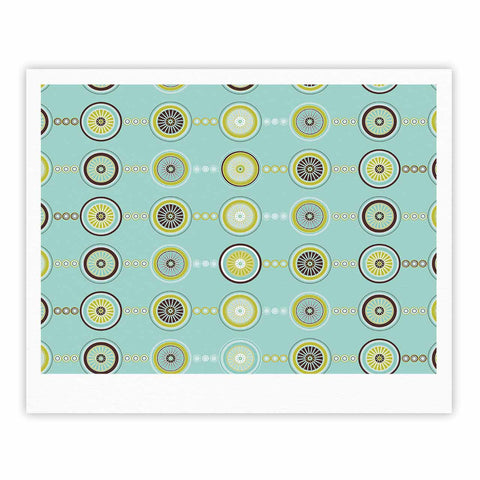 "afe images ""Circle Pattern"" Teal Blue Illustration Fine Art Gallery Print"