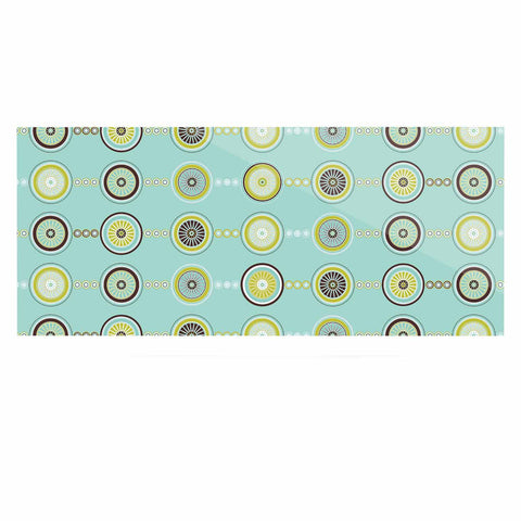 "afe images ""Circle Pattern"" Teal Blue Illustration Luxe Rectangle Panel"