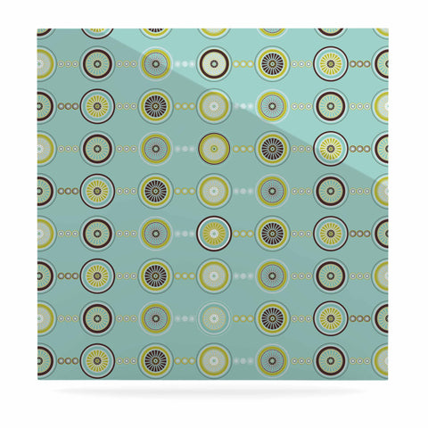"afe images ""Circle Pattern"" Teal Blue Illustration Luxe Square Panel"