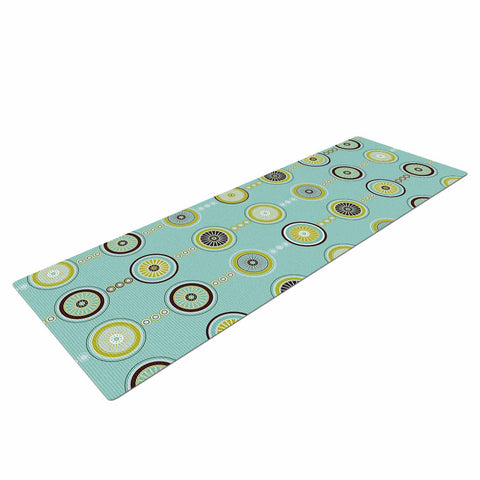 "afe images ""Circle Pattern"" Teal Blue Illustration Yoga Mat"