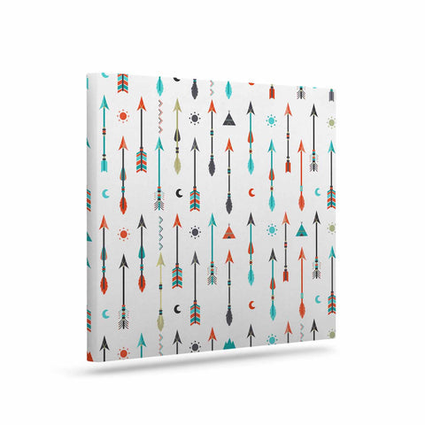 "afe images ""Tribal Inspired Arrow"" Multicolor Illustration Canvas Art - KESS InHouse  - 1"