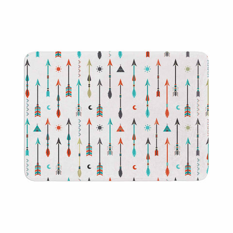 "afe images ""Tribal Inspired Arrow"" Multicolor Illustration Memory Foam Bath Mat"