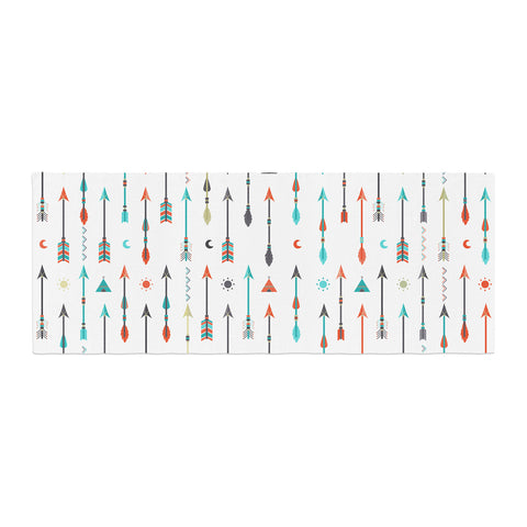 "afe images ""Tribal Inspired Arrow"" Multicolor Illustration Bed Runner"