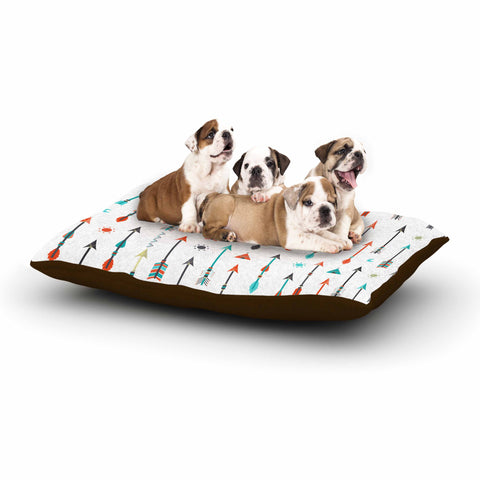 "afe images ""Tribal Inspired Arrow"" Multicolor Illustration Dog Bed"