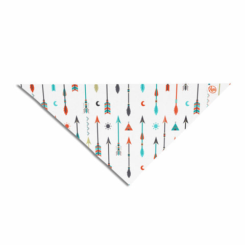 "afe images ""Tribal Inspired Arrow"" Multicolor Illustration Pet Bandana"
