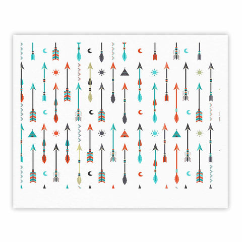 "afe images ""Tribal Inspired Arrow"" Multicolor Illustration Fine Art Gallery Print"