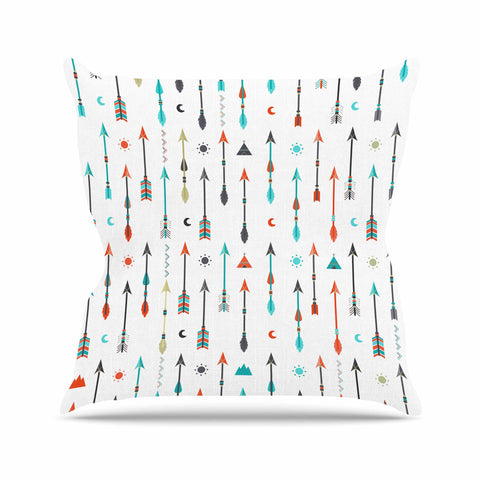 "afe images ""Tribal Inspired Arrow"" Multicolor Illustration Outdoor Throw Pillow"