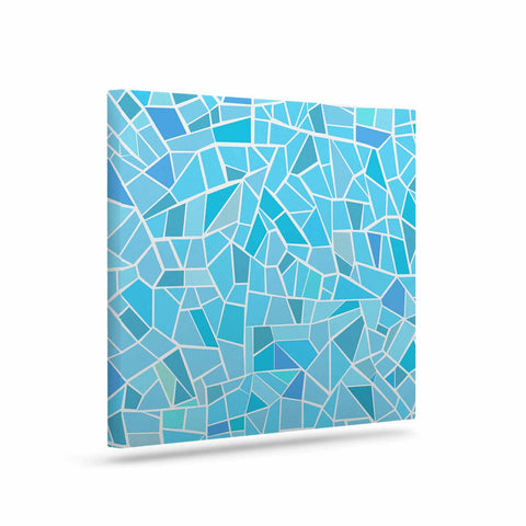 "afe images ""Abstract Mosaic Pattern"" Blue Pastel Illustration Canvas Art - KESS InHouse  - 1"