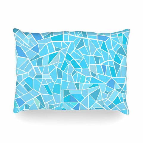 "afe images ""Abstract Mosaic Pattern"" Blue Pastel Illustration Oblong Pillow"