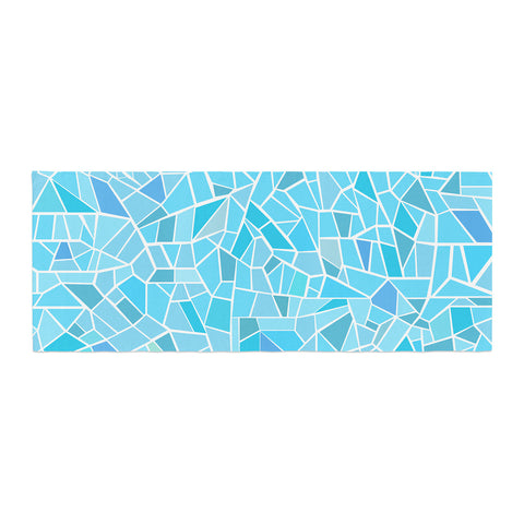 "afe images ""Abstract Mosaic Pattern"" Blue Pastel Illustration Bed Runner"