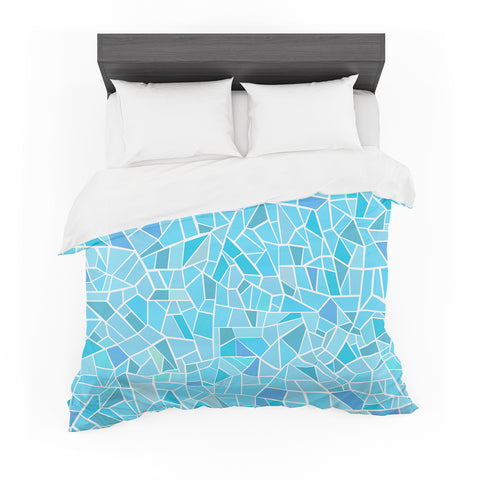 "afe images ""Abstract Mosaic Pattern"" Blue Pastel Illustration Featherweight Duvet Cover"