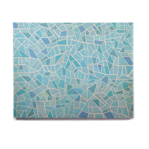 "afe images ""Abstract Mosaic Pattern"" Blue Pastel Illustration Birchwood Wall Art - KESS InHouse  - 1"
