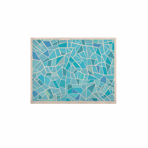 "afe images ""Abstract Mosaic Pattern"" Blue Pastel Illustration KESS Naturals Canvas (Frame not Included)"