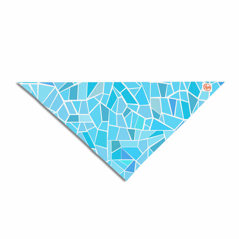 "afe images ""Abstract Mosaic Pattern"" Blue Pastel Illustration Pet Bandana"