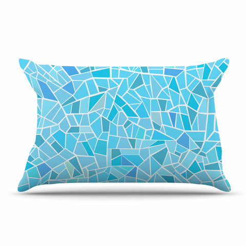 "afe images ""Abstract Mosaic Pattern"" Blue Pastel Illustration Pillow Sham"