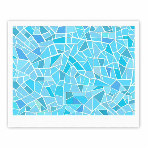 "afe images ""Abstract Mosaic Pattern"" Blue Pastel Illustration Fine Art Gallery Print"