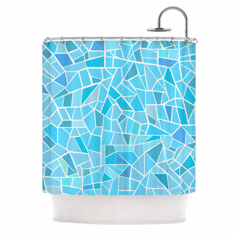 "afe images ""Abstract Mosaic Pattern"" Blue Pastel Illustration Shower Curtain"