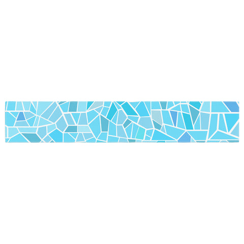 "afe images ""Abstract Mosaic Pattern"" Blue Pastel Illustration Table Runner"
