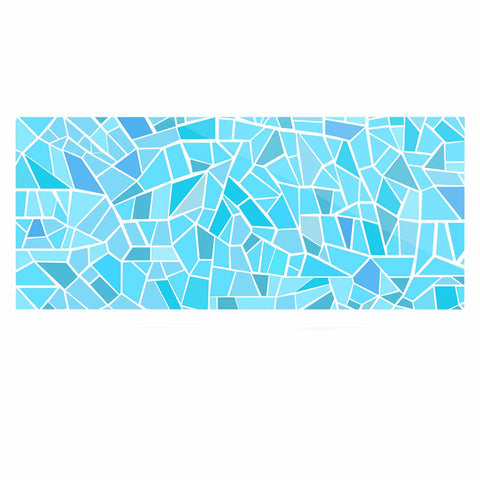 "afe images ""Abstract Mosaic Pattern"" Blue Pastel Illustration Luxe Rectangle Panel"