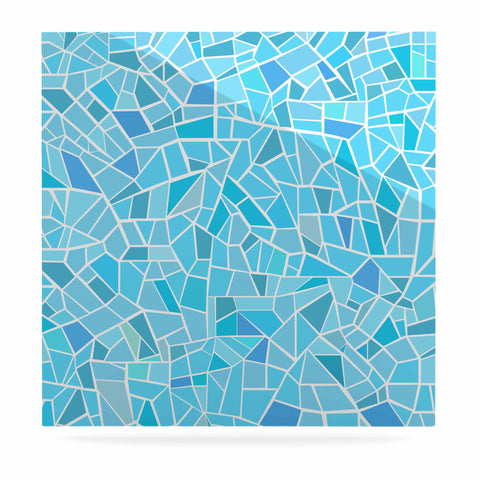 "afe images ""Abstract Mosaic Pattern"" Blue Pastel Illustration Luxe Square Panel"