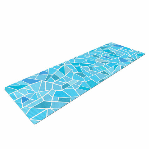 "afe images ""Abstract Mosaic Pattern"" Blue Pastel Illustration Yoga Mat"