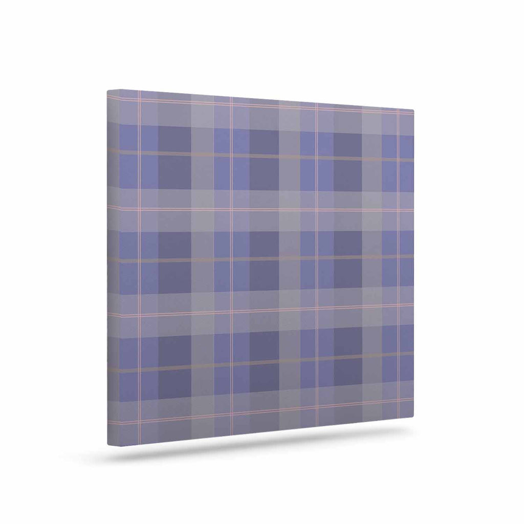 "afe images ""Purple Plaid Pattern"" Purple Blue Illustration Canvas Art - KESS InHouse  - 1"