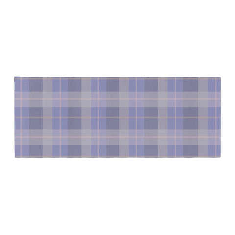 "afe images ""Purple Plaid Pattern"" Purple Blue Illustration Bed Runner - KESS InHouse  - 1"